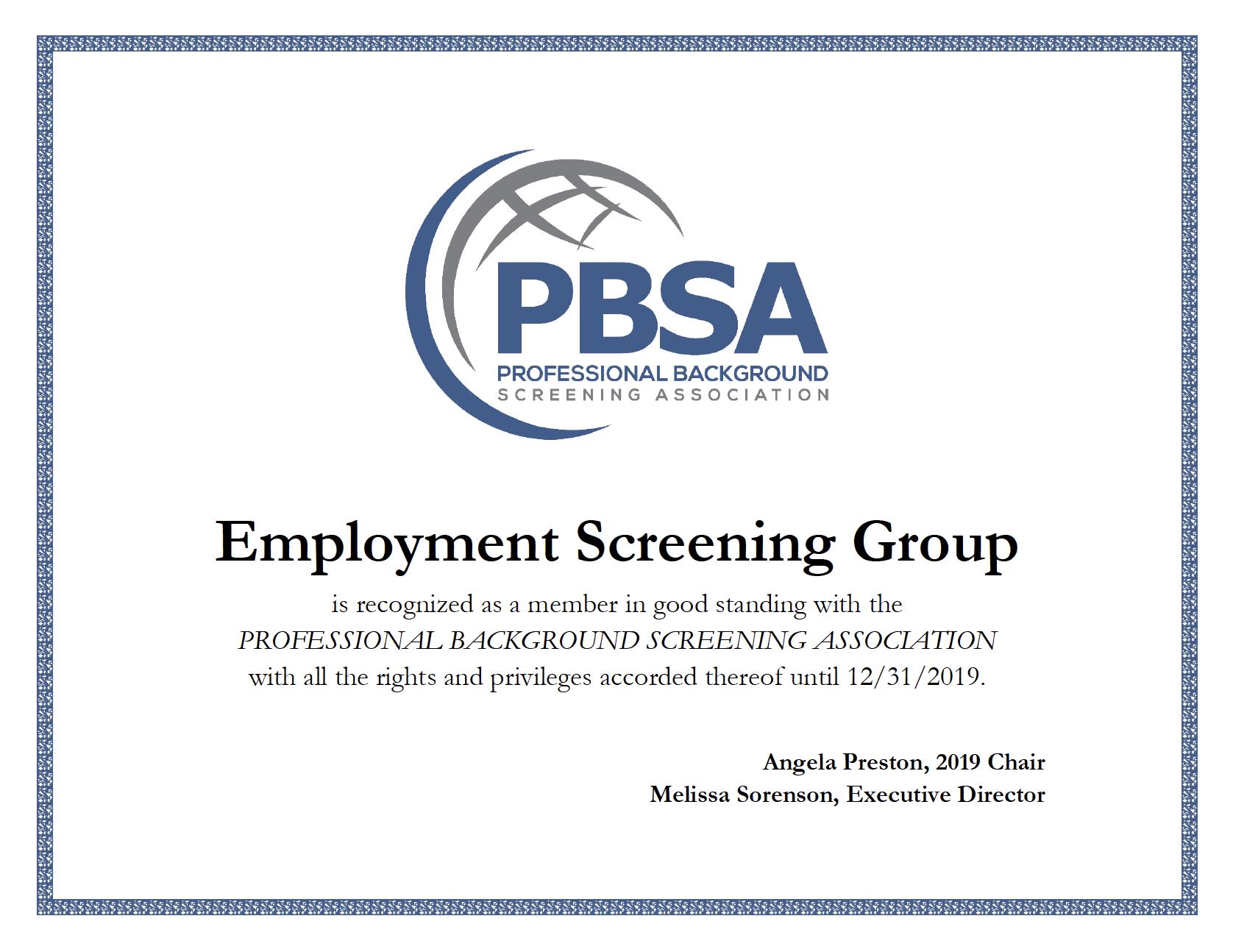 ESG PBSA Members