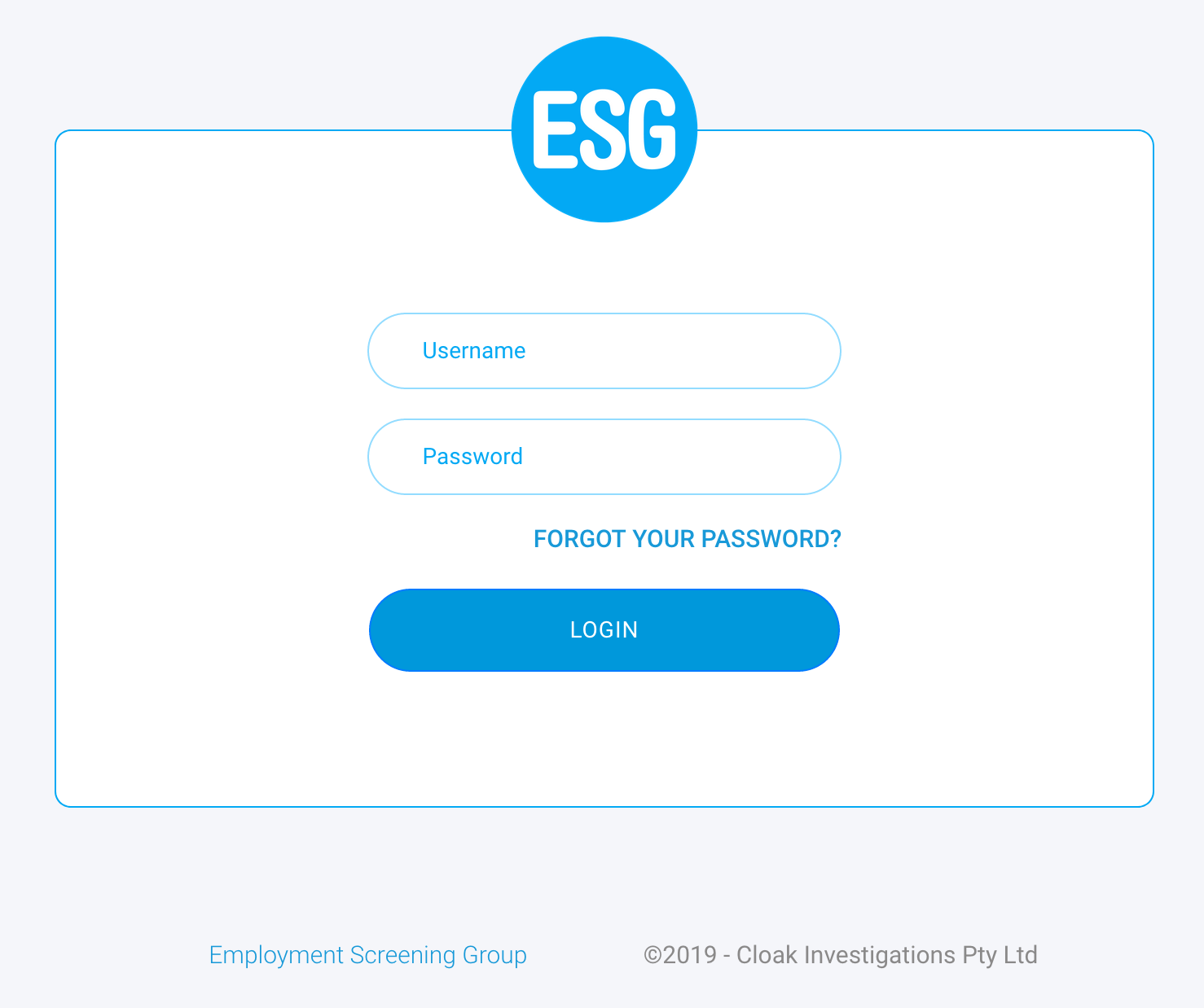 ESG Connect Portal Login